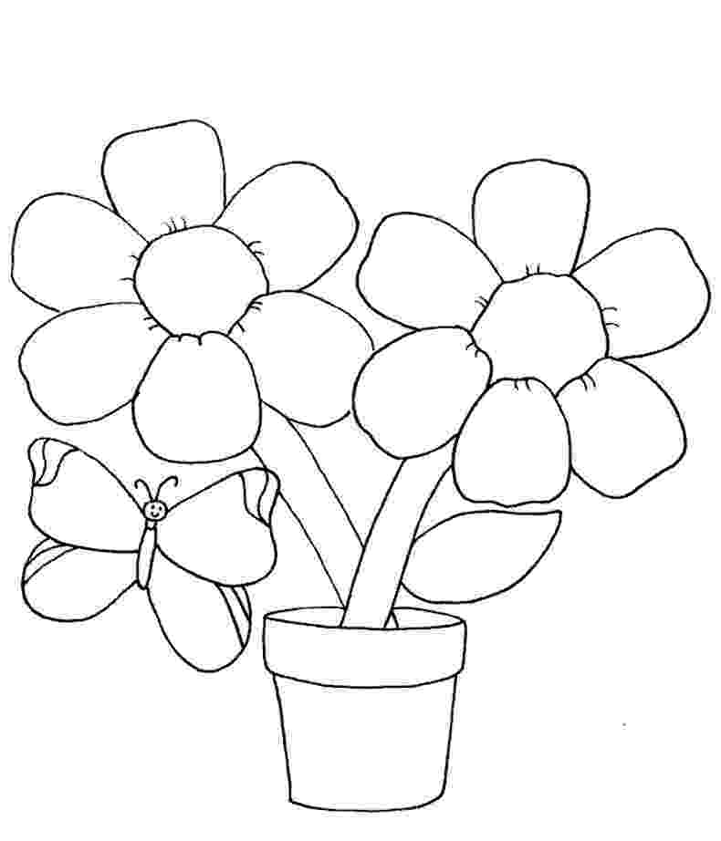 flowers printable coloring pages butterflies on flowers coloring page free printable flowers coloring printable pages