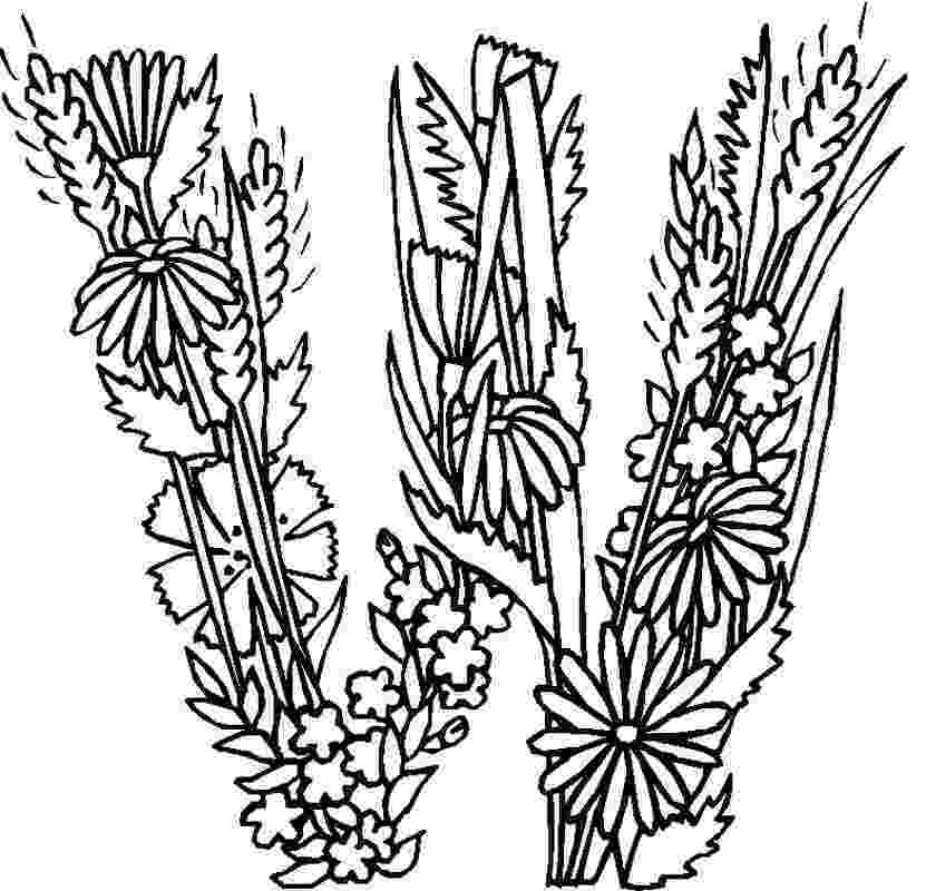 flowers you can print and color alphabet flower w coloring pages in this page you can find you color can print flowers and