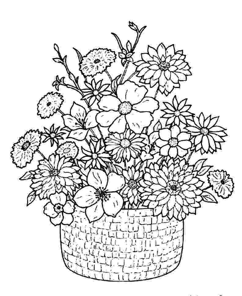 flowers you can print and color detailed flower coloring pages to download and print for free and you print flowers can color