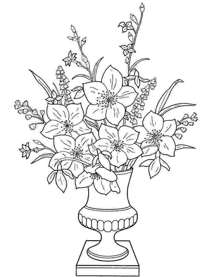 flowers you can print and color flowers in a vase coloring page for kids free color and you flowers print can
