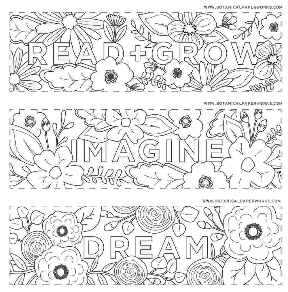 flowers you can print and color free printables read grow coloring bookmarks for back flowers you and color print can