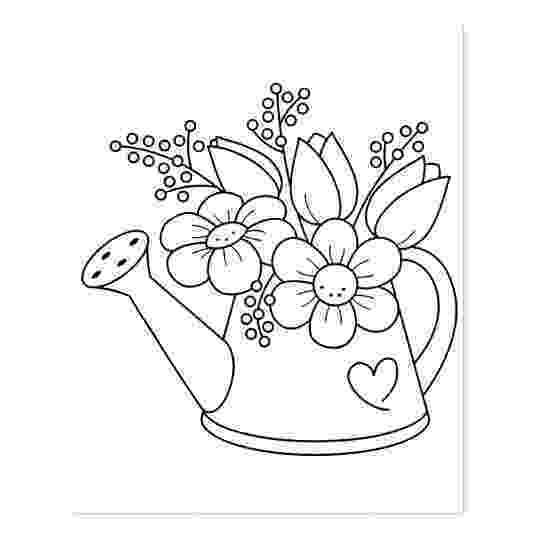 flowers you can print and color garden watering can with flowers coloring page rubber and you print flowers color can