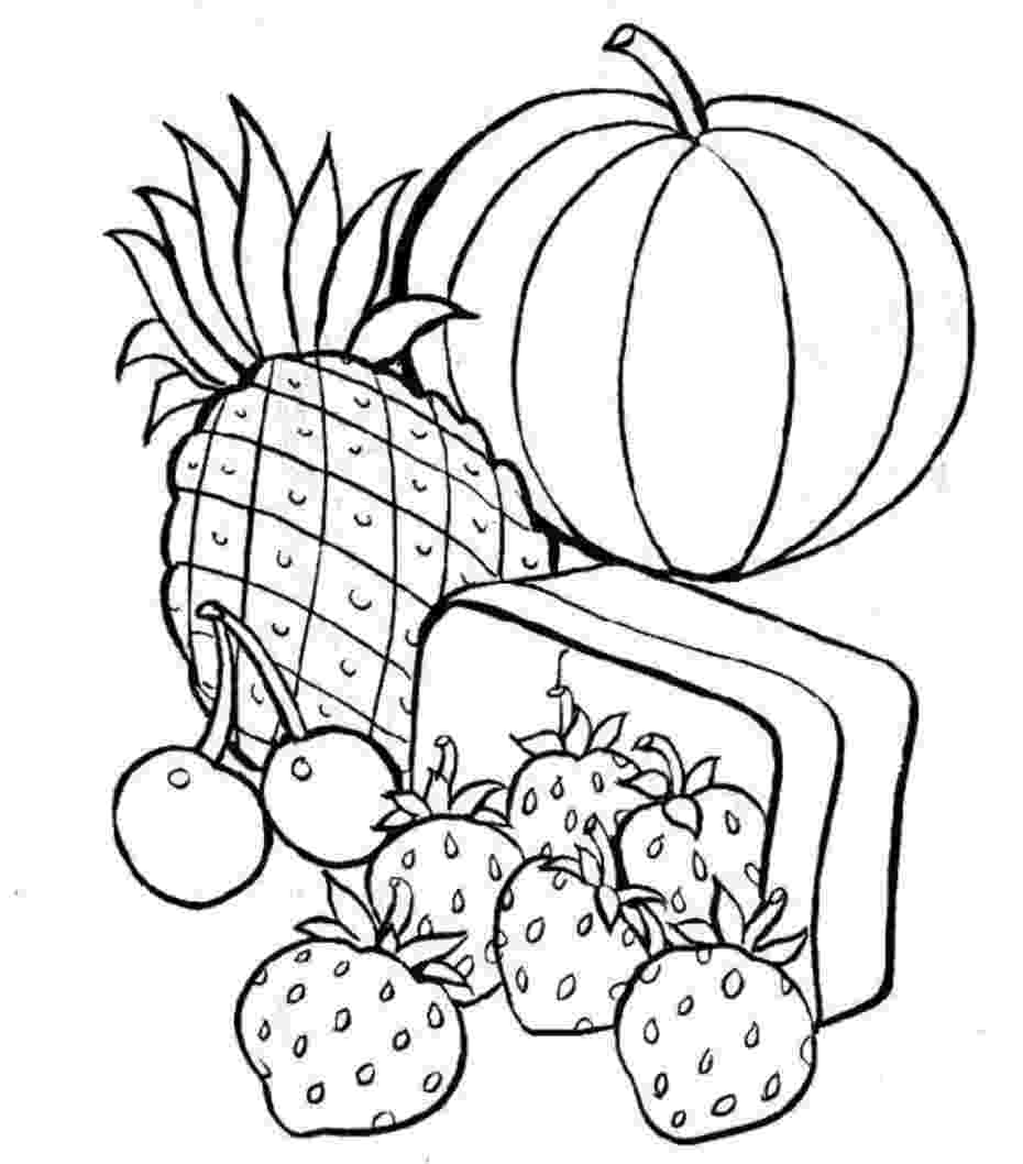 food coloring pages free printable food coloring pages for kids coloring food pages
