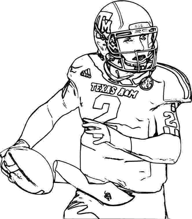 football players coloring pages nfl football players drawing at getdrawings free download players coloring football pages