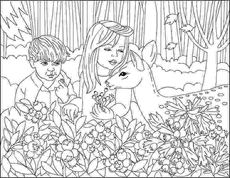 forest coloring sheets deer fantasy forest coloring page digital art by crista forest forest coloring sheets