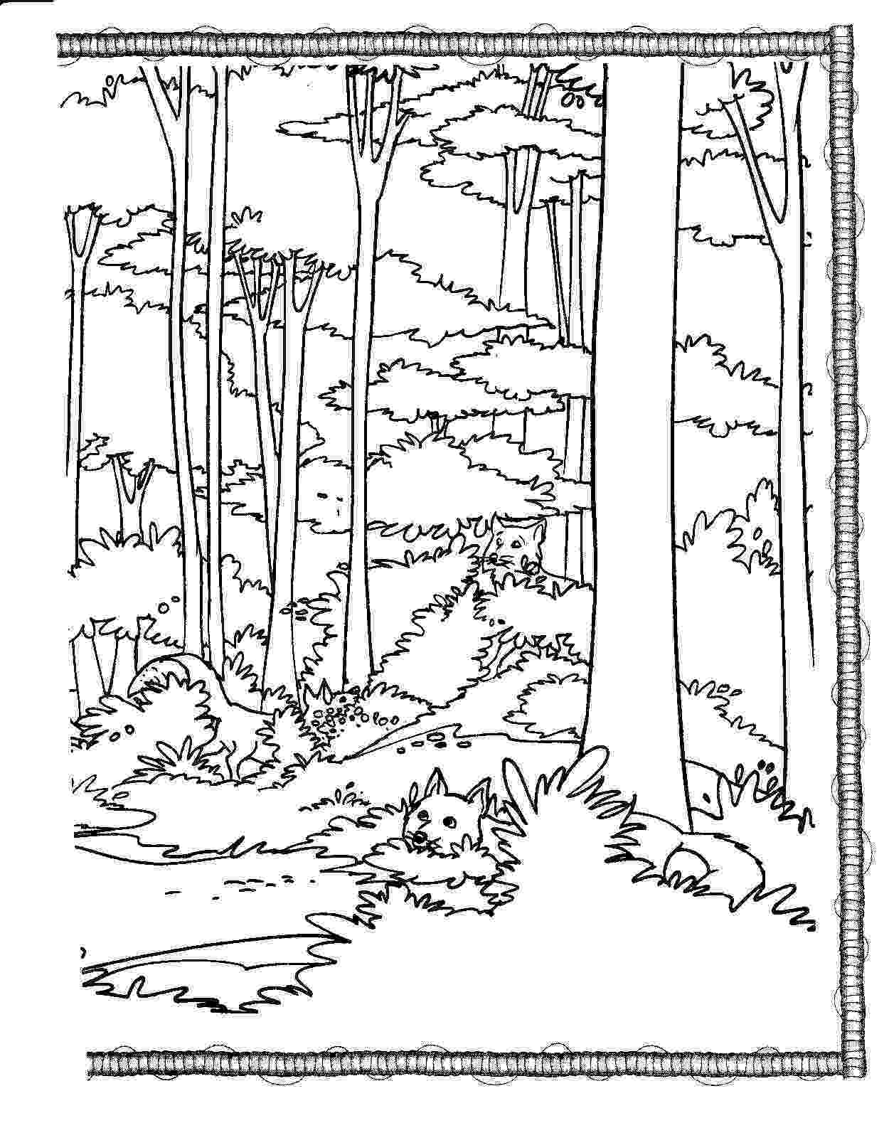 forest coloring sheets forest coloring pages to download and print for free forest sheets coloring