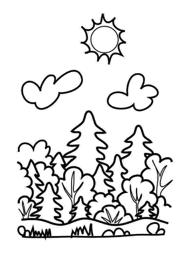 forest coloring sheets nicole39s free coloring pages autumn in the magical forest sheets coloring forest