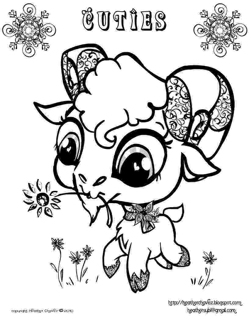 free animal coloring pages quirky artist loft 39cuties39 free animal coloring pages coloring pages animal free