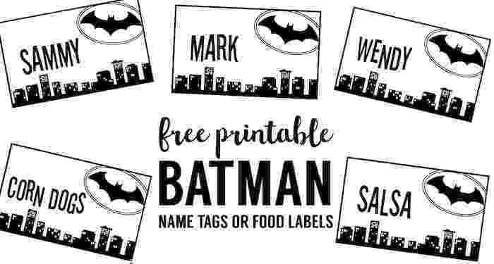 free batman printables batman name tags free printable paper trail design batman printables free