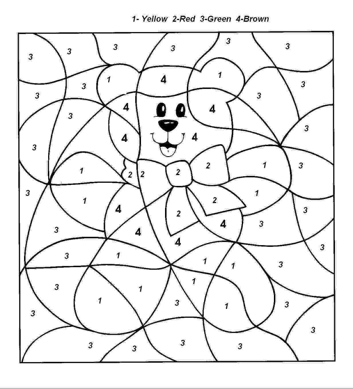 free color by number pages free printable color by number coloring pages best free number color by pages