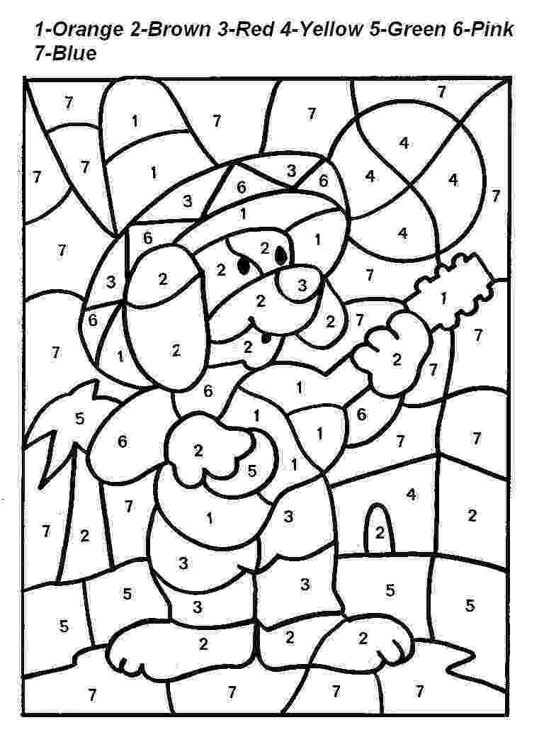 free color by number pages spring worksheets best coloring pages for kids by free color number pages