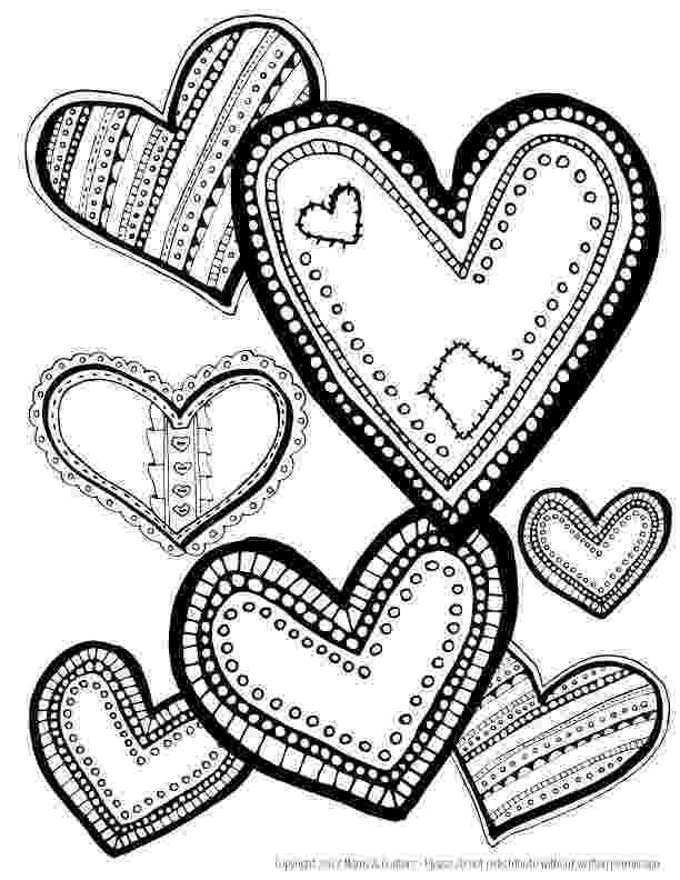 free coloring book printables hearts coloring page download heart coloring pages love printables coloring book free