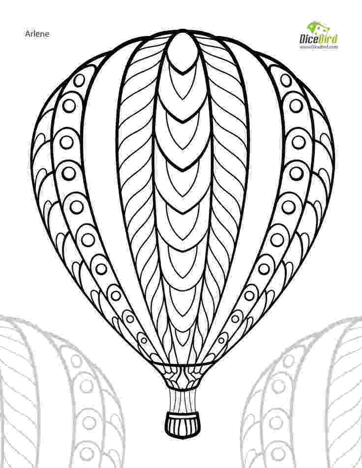 free coloring pages adults online hot air balloon adult free printable colouring page free coloring online pages adults