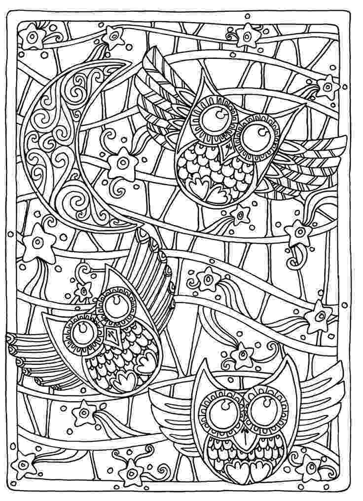 free coloring pages adults online owl coloring pages for adults free detailed owl coloring adults online coloring free pages