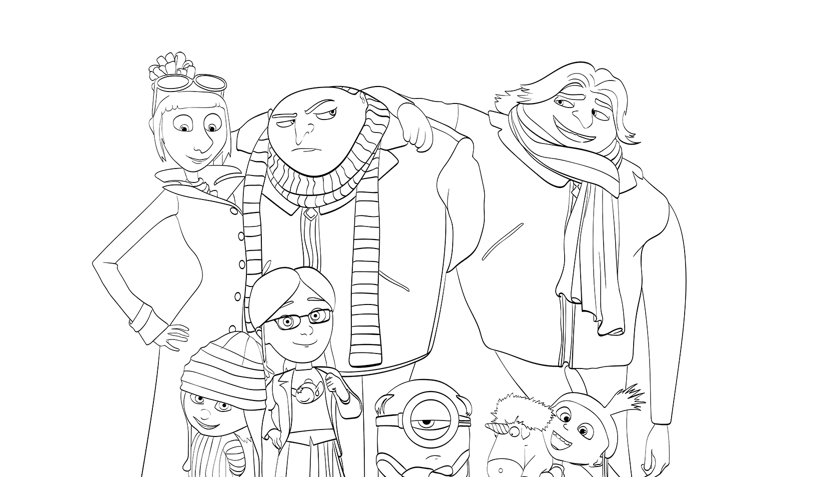 free coloring pages despicable me despicable me 3 minions coloring page free printable pages me despicable coloring free