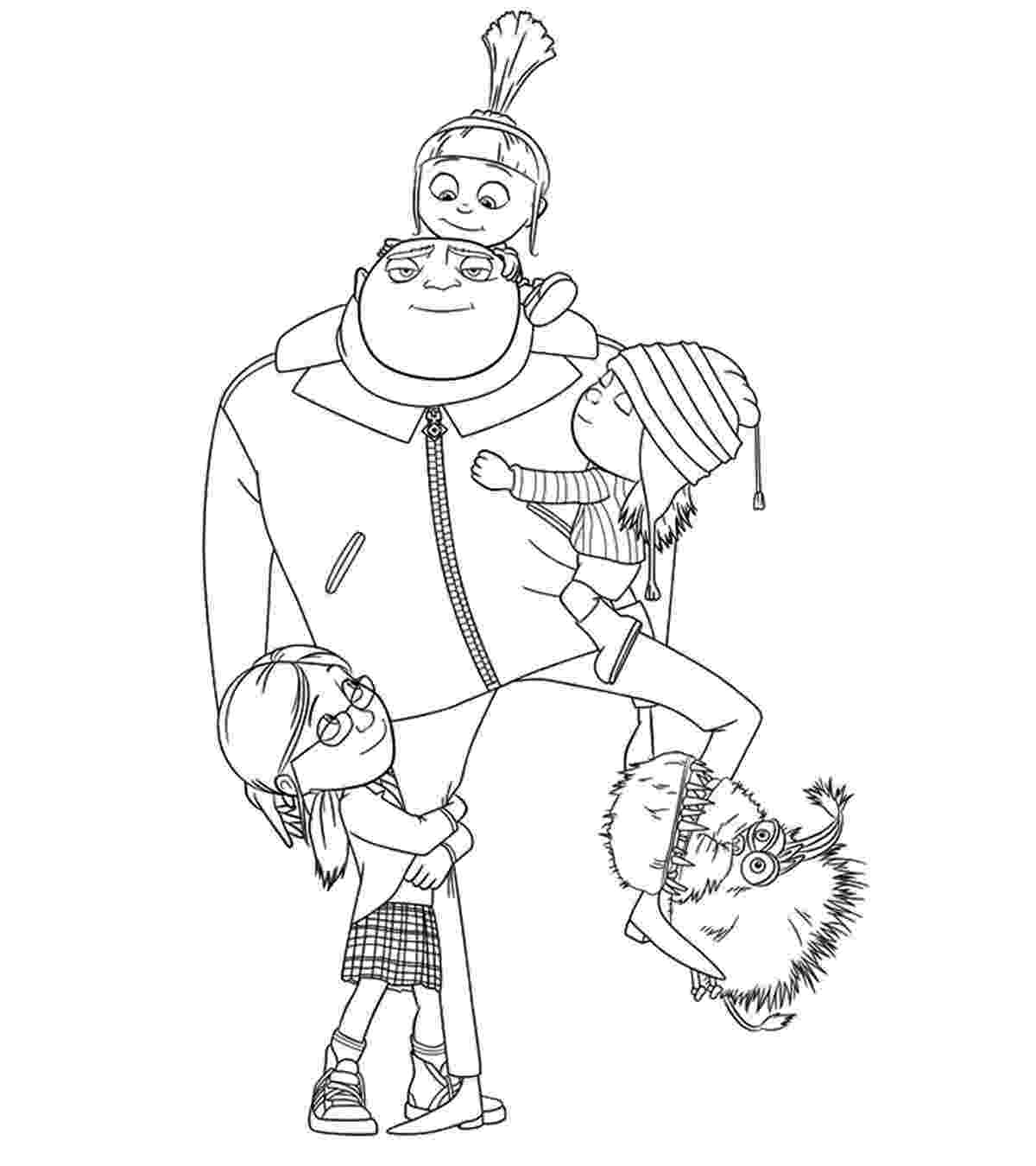 free coloring pages despicable me printable despicable me coloring pages for kids cool2bkids me pages despicable coloring free