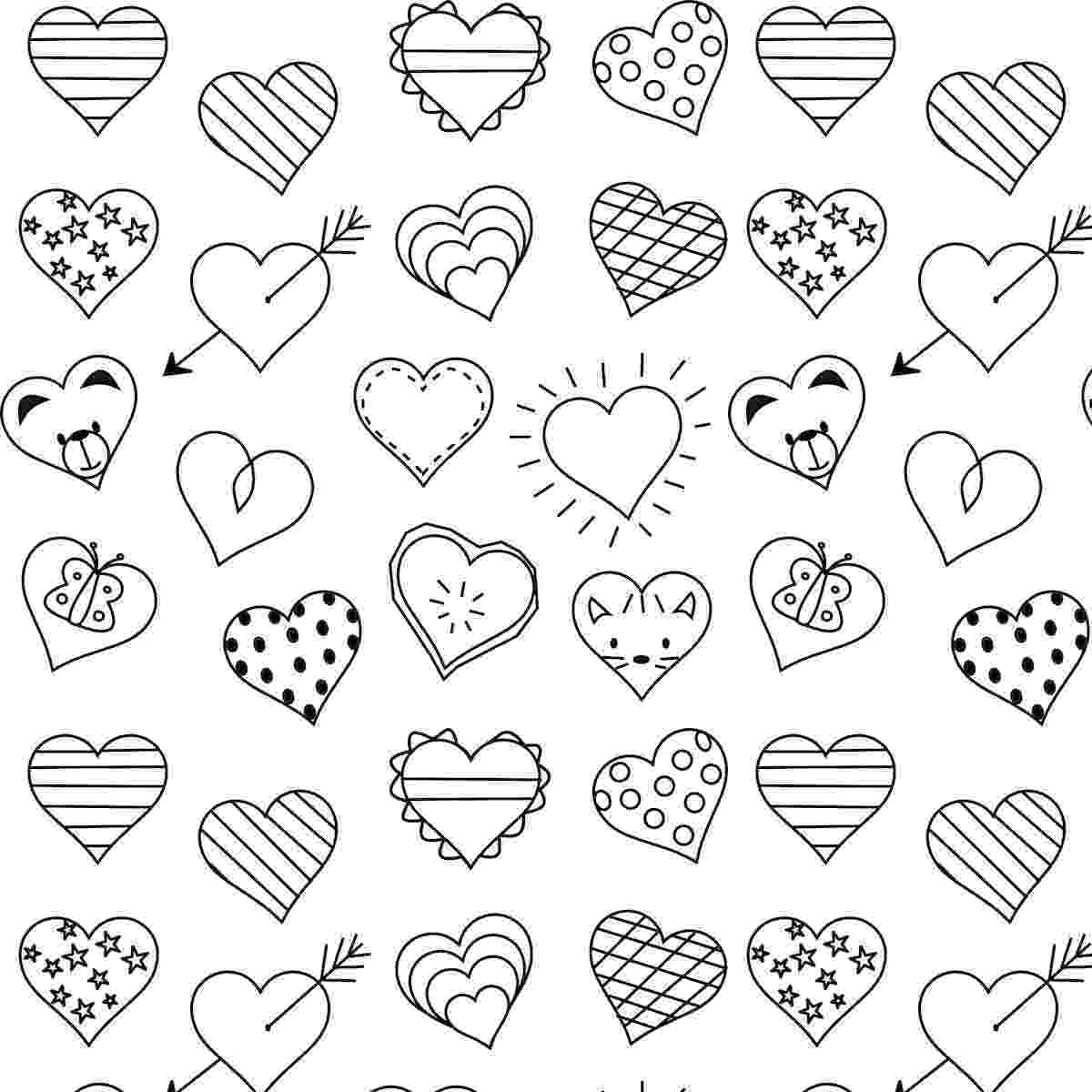 free coloring pages hearts free printable heart coloring page ausdruckbare pages hearts coloring free
