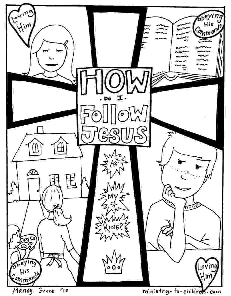 free coloring pages jesus how do i follow jesus gospel coloring page pages coloring free jesus