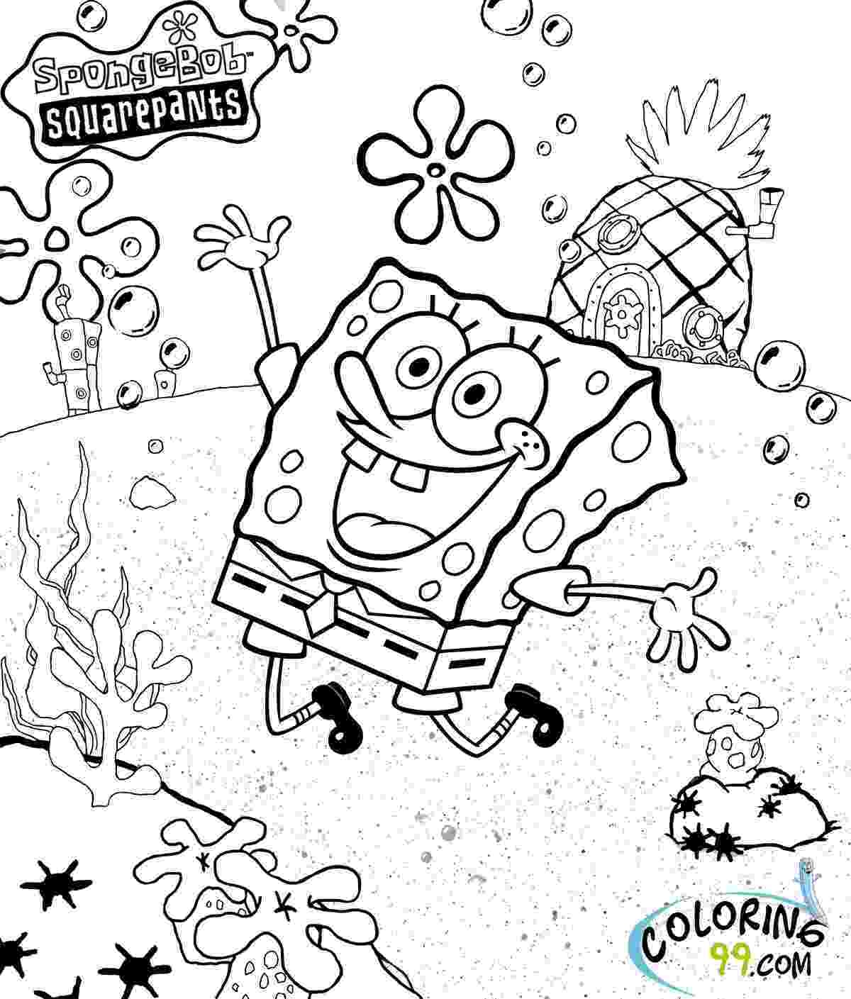 free coloring pages spongebob printable spongebob coloring pages for kids cool2bkids spongebob pages free coloring