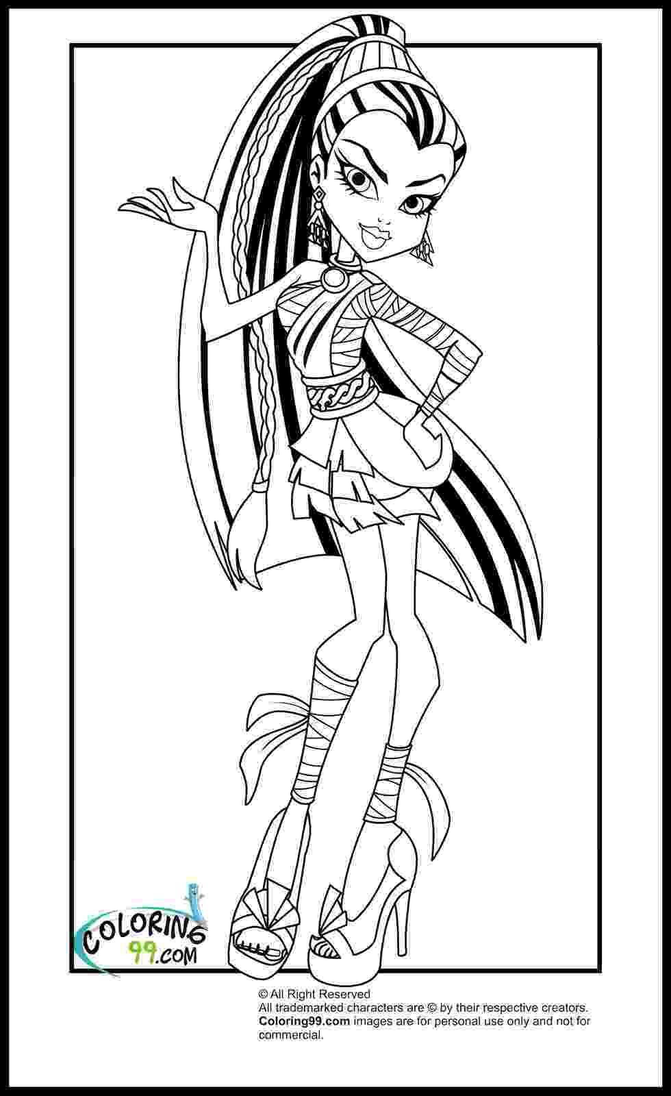 free colouring pages monster high monster high coloring pages team colors monster colouring free high pages
