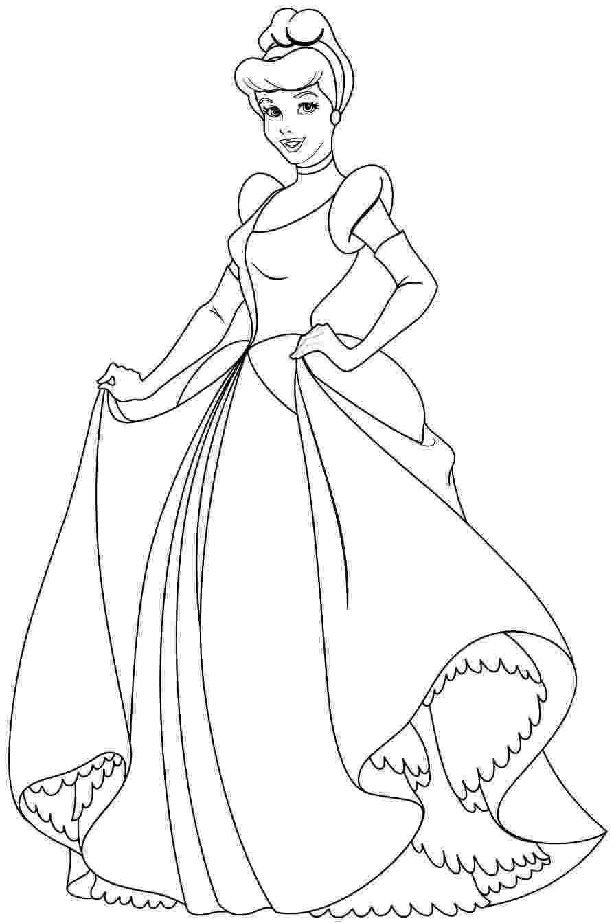 free disney princess coloring pages disney princess cindirella coloring page 01 cinderella free disney coloring pages princess