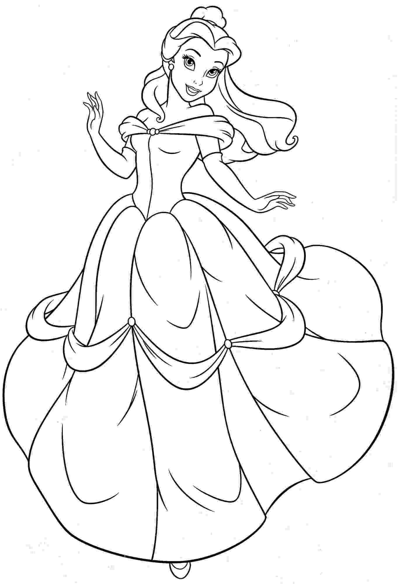free disney princess coloring pages princess belle coloring pages to download and print for free pages disney princess coloring free