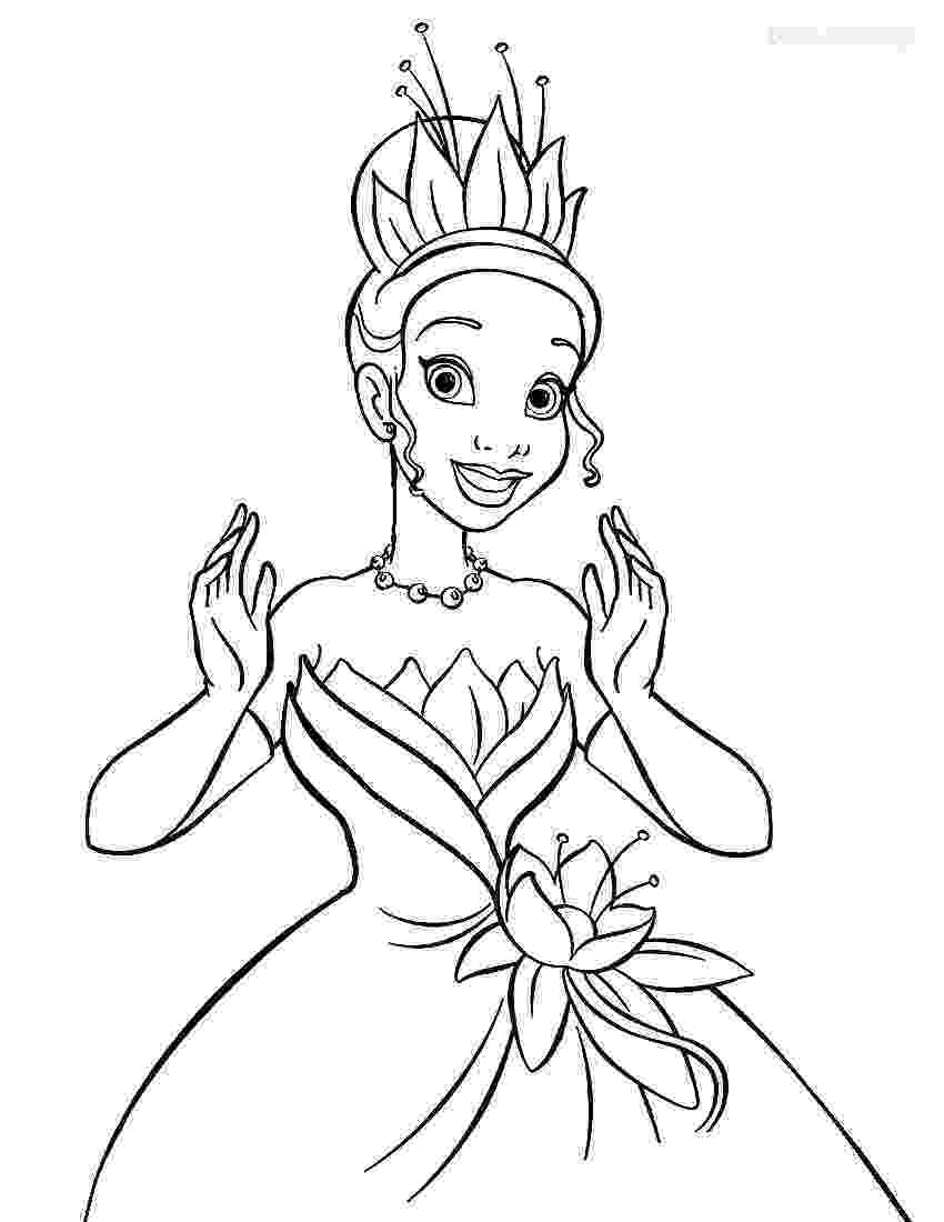 free disney princess coloring pages printable princess tiana coloring pages for kids cool2bkids free pages princess coloring disney