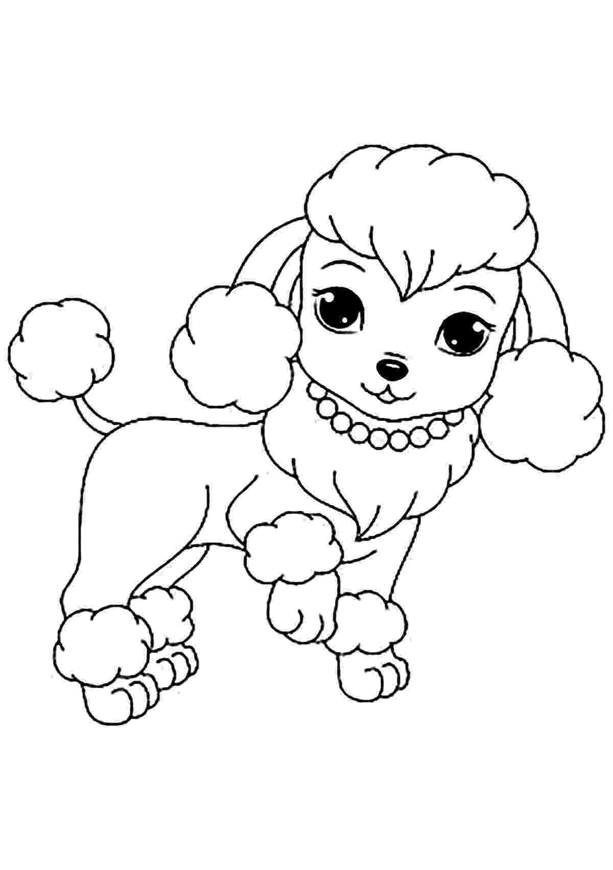 free dog coloring pages cute puppy coloring pages for kids free printable coloring dog free pages
