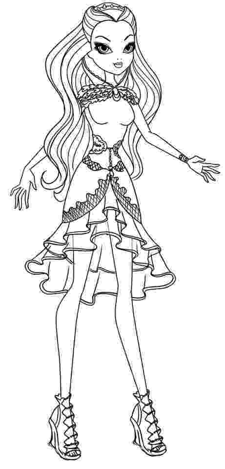 free ever after high printables ever after high coloring page ginger google search after ever printables free high