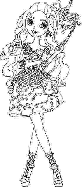 free ever after high printables ever after high lizzie hearts coloring pages download free high ever after printables