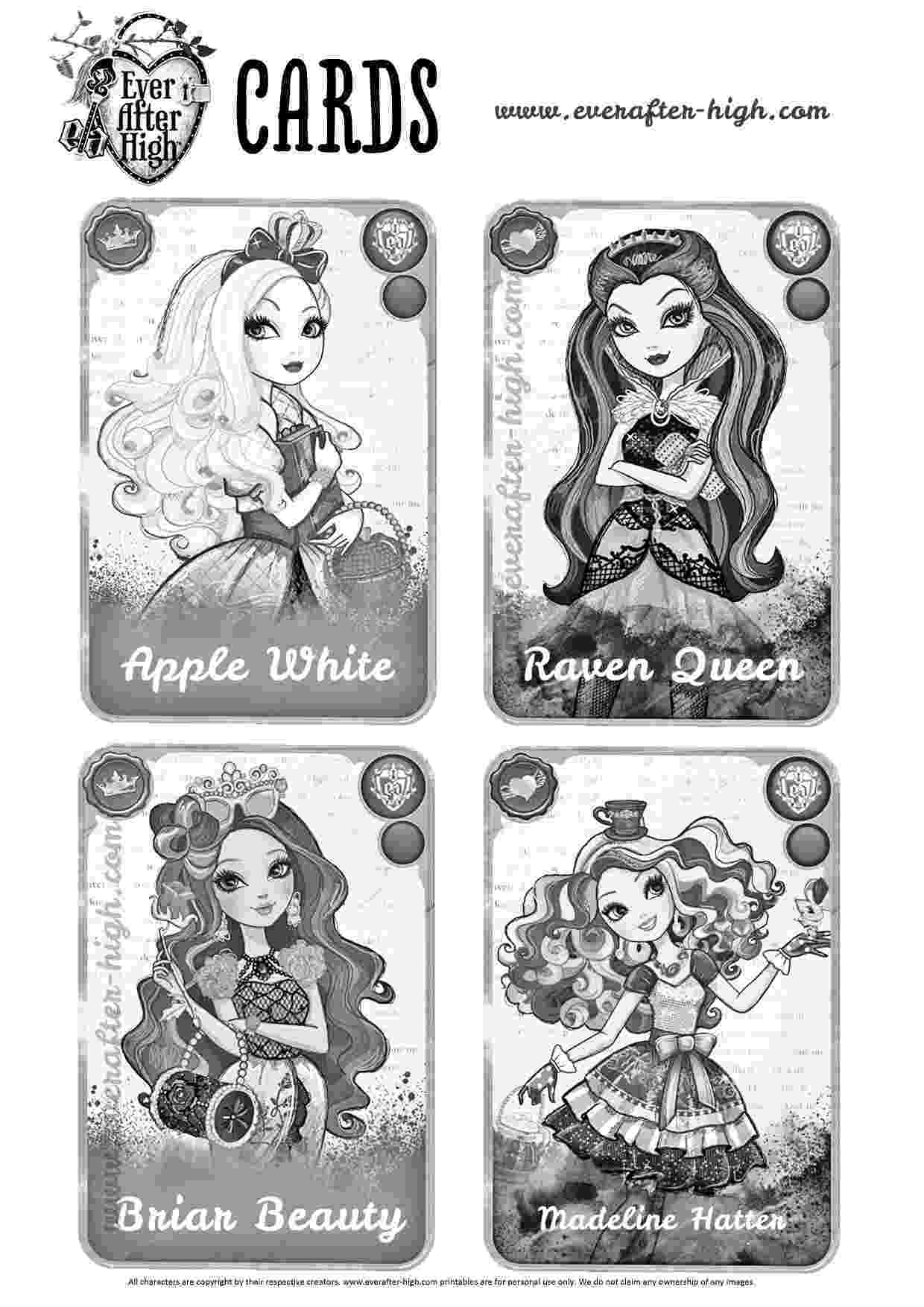 free ever after high printables free printable ever after high coloring pages duchess free printables ever high after