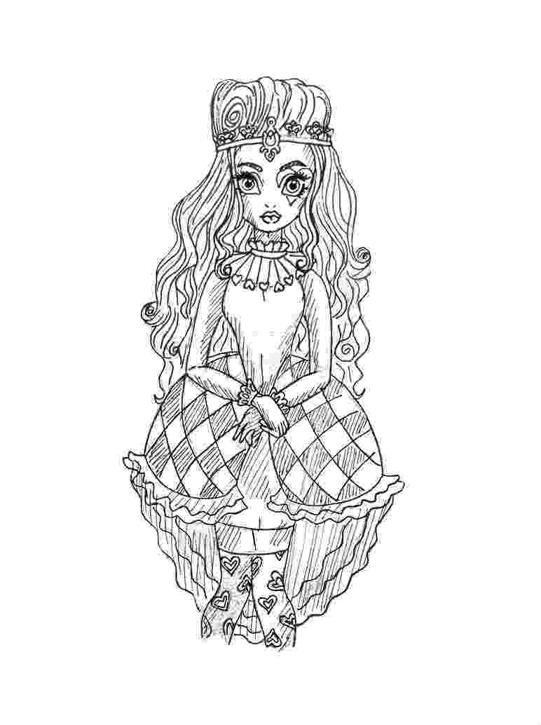 free ever after high printables hot fried egg coloring pages download print online free ever printables after high