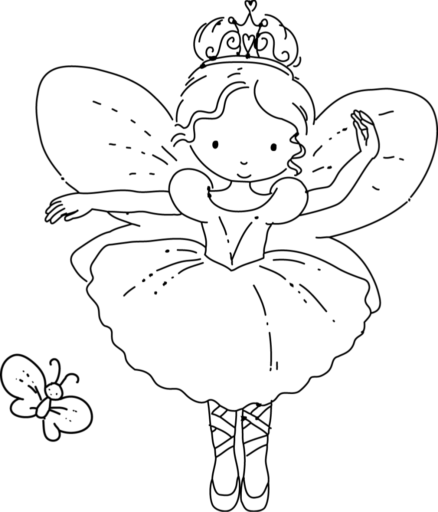 free fairy coloring pages winking fairy coloring page free printable coloring pages pages coloring free fairy