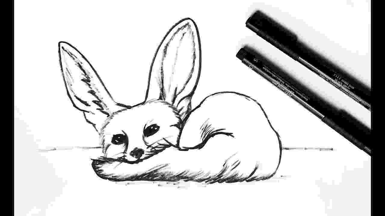 free fennec fox vulpes vulpes clip art vector graphics 132 vulpes vulpes fennec fox free