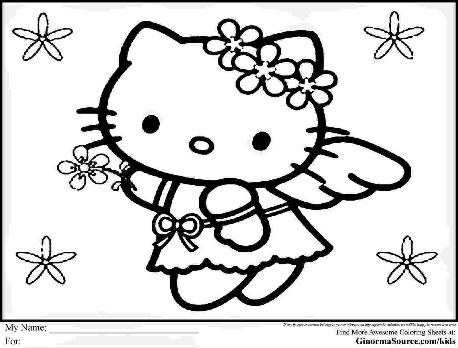 free hello kitty colouring pages hello kitty with heart balloons coloring page free hello free kitty colouring pages