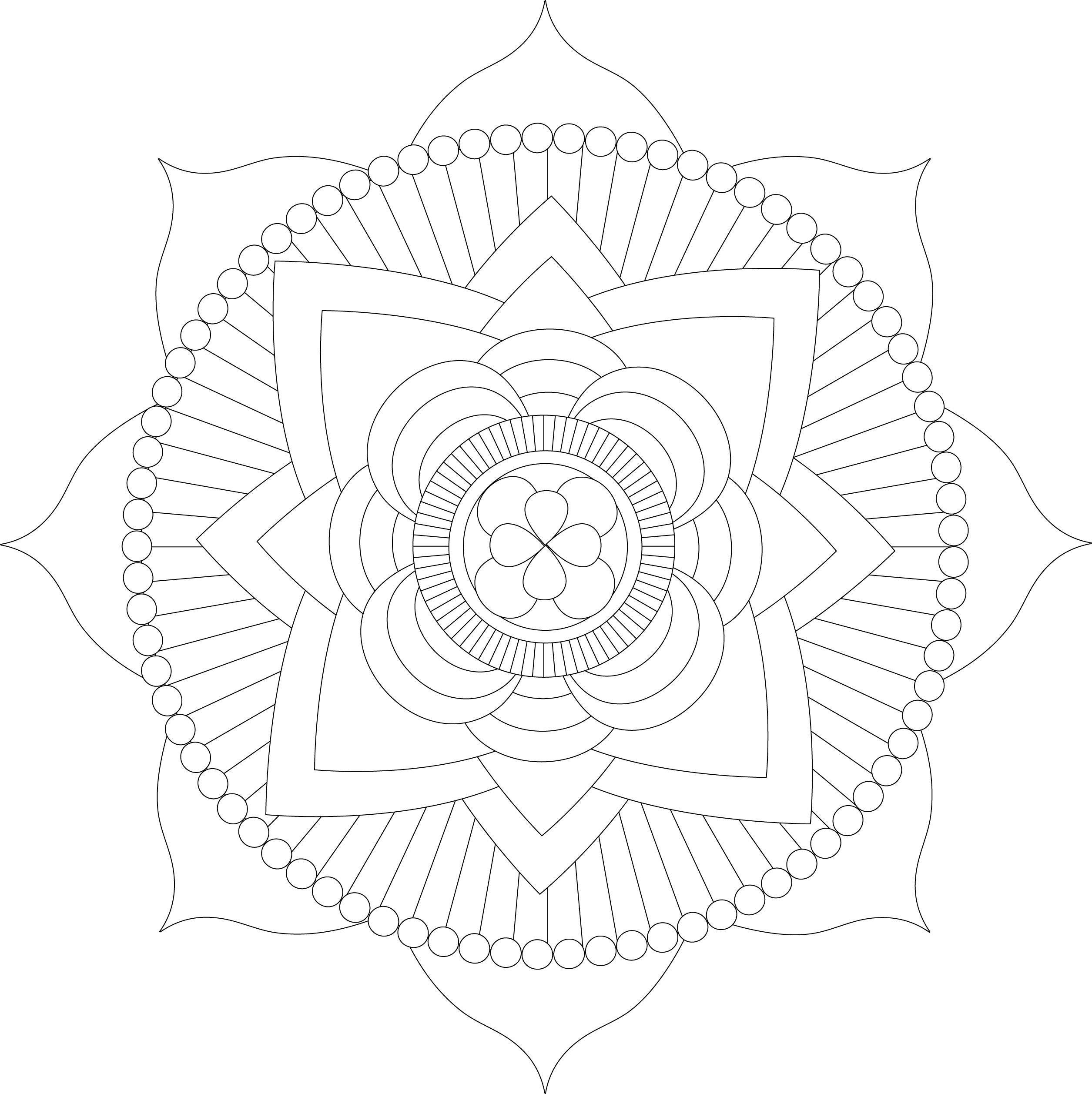 free mandalas for kids simple mandala with some geometric patterns hand drawn for kids mandalas free