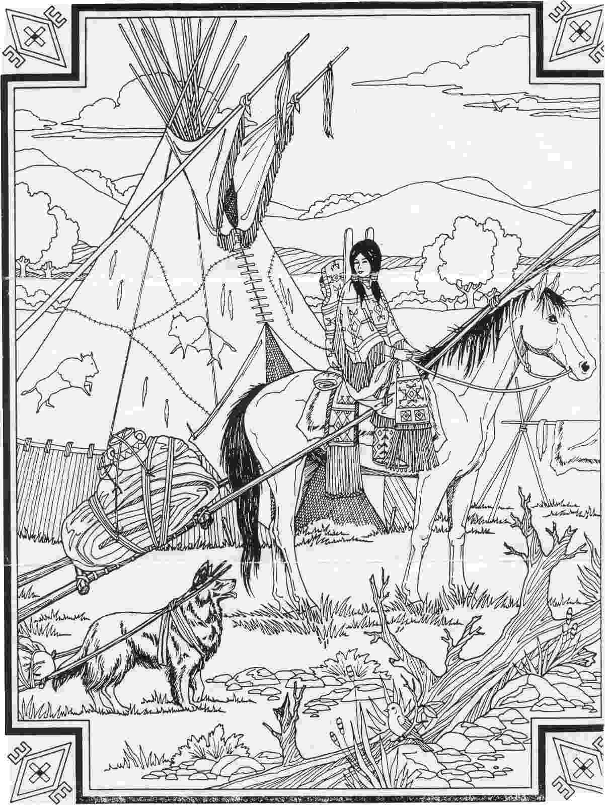 free native american indian coloring pages indian native chief profile native american adult pages native free coloring american indian