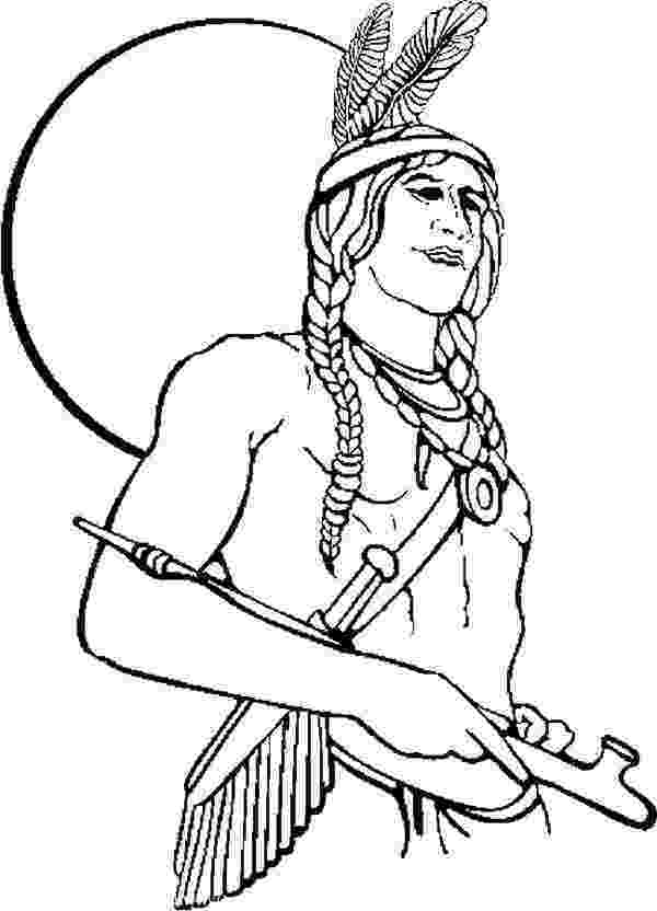 free native american indian coloring pages native american warrior coloring page kids play color native american pages coloring indian free
