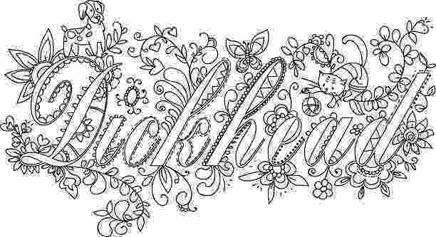 free online coloring pages for adults swear words douchebag swear word coloring page adult coloring page swear for adults words online free pages coloring