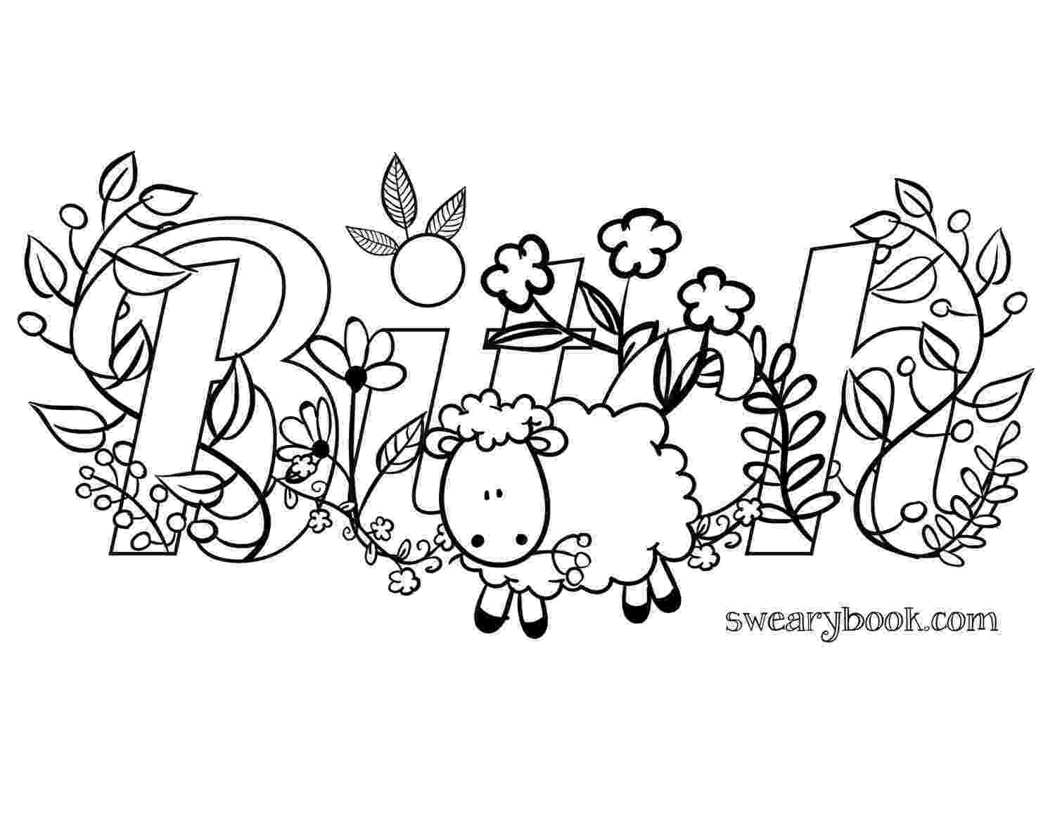 free online coloring pages for adults swear words httpswwwfacebookcomcolorfullanguageart swear words online adults pages for words swear coloring free