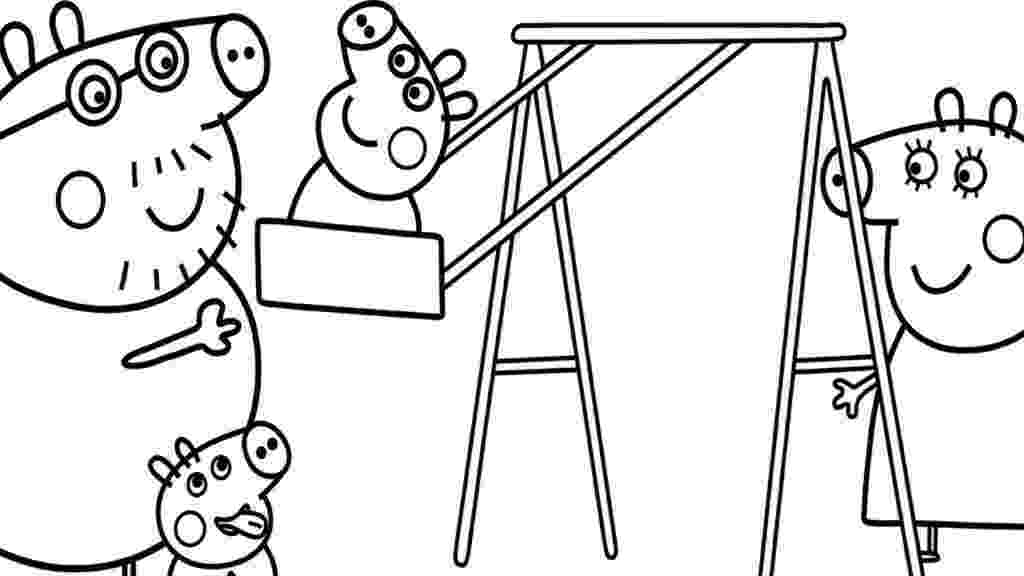 free peppa pig christmas colouring pages daddy pig decorates xmas tree coloring page free pages colouring free christmas peppa pig