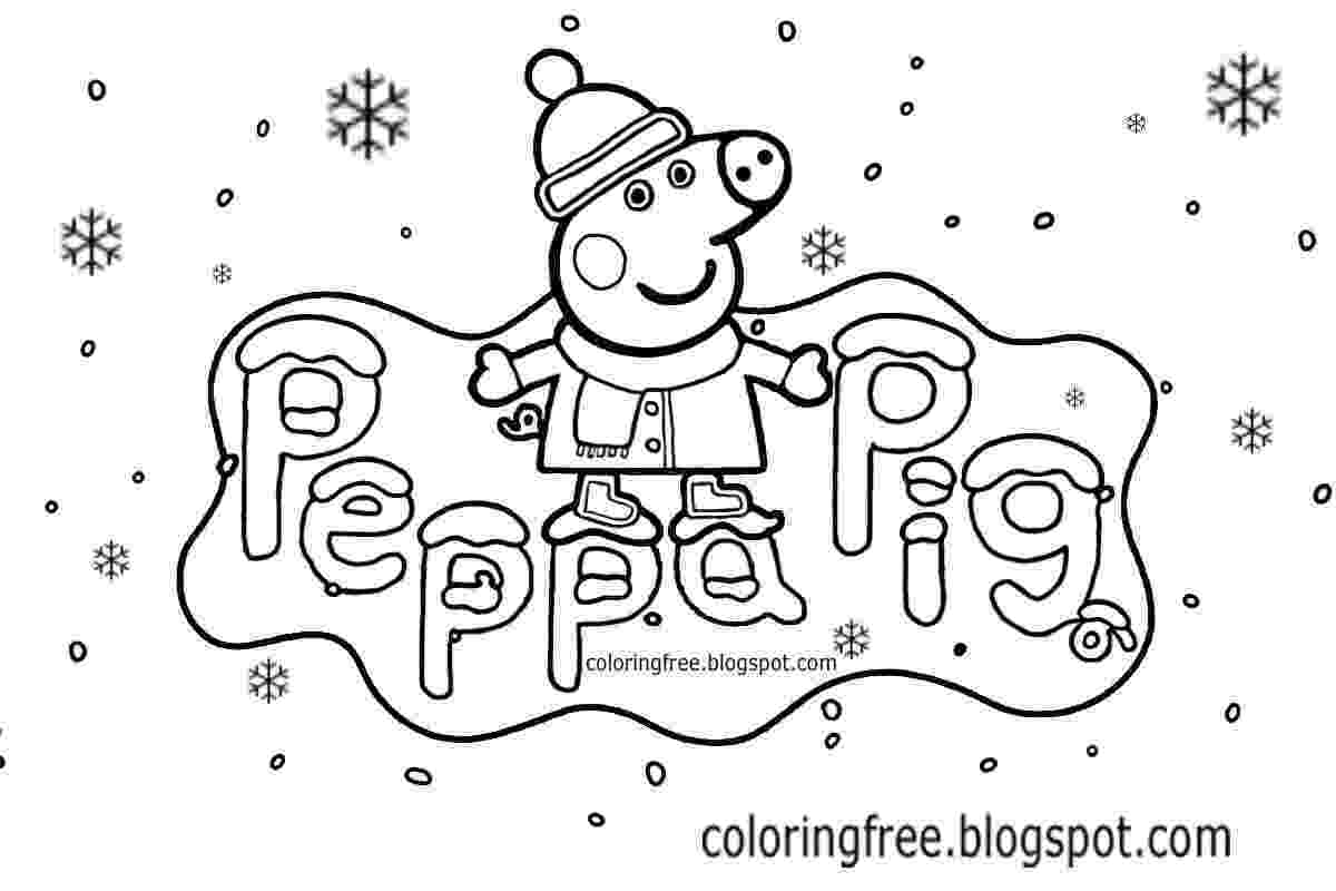 free peppa pig christmas colouring pages free coloring pages printable pictures to color kids pages colouring pig christmas peppa free