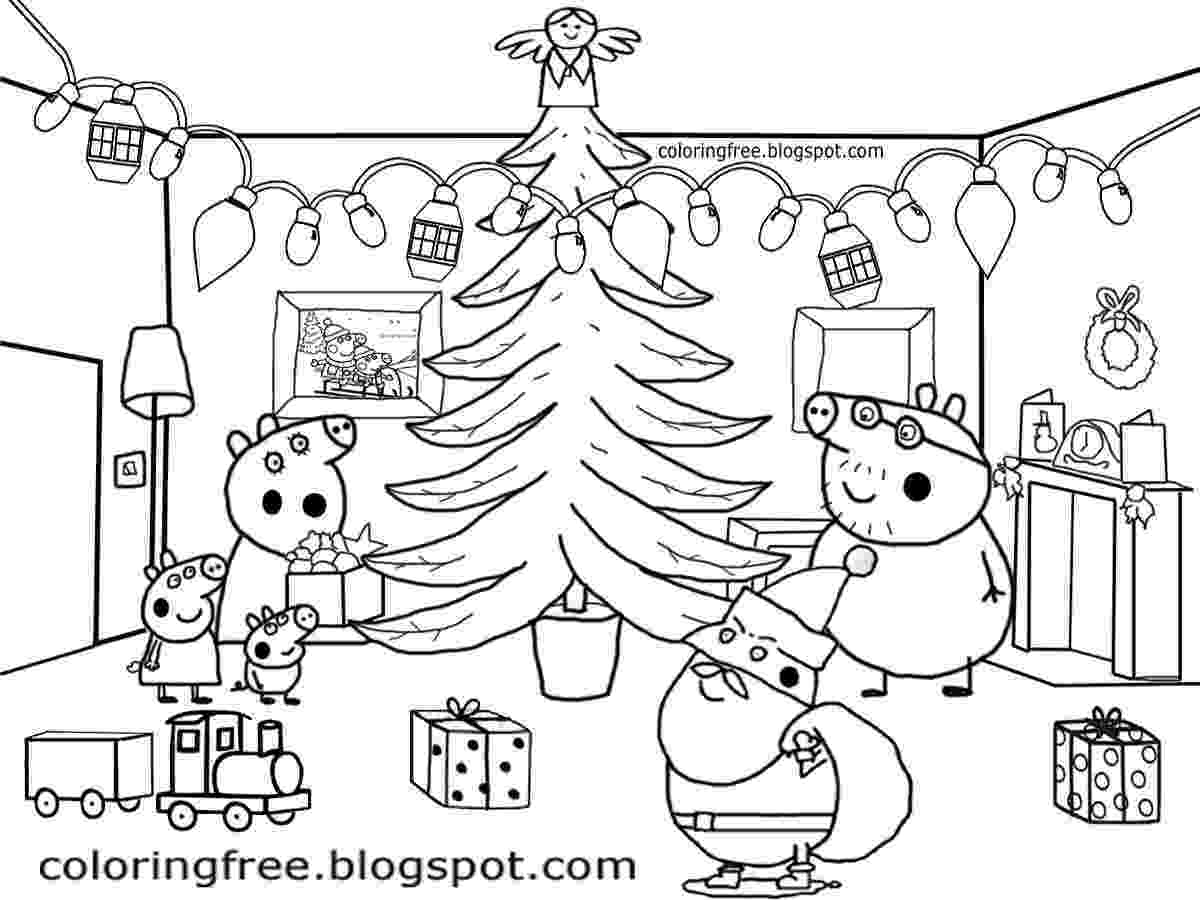 free peppa pig christmas colouring pages free coloring pages printable pictures to color kids peppa christmas free pig colouring pages