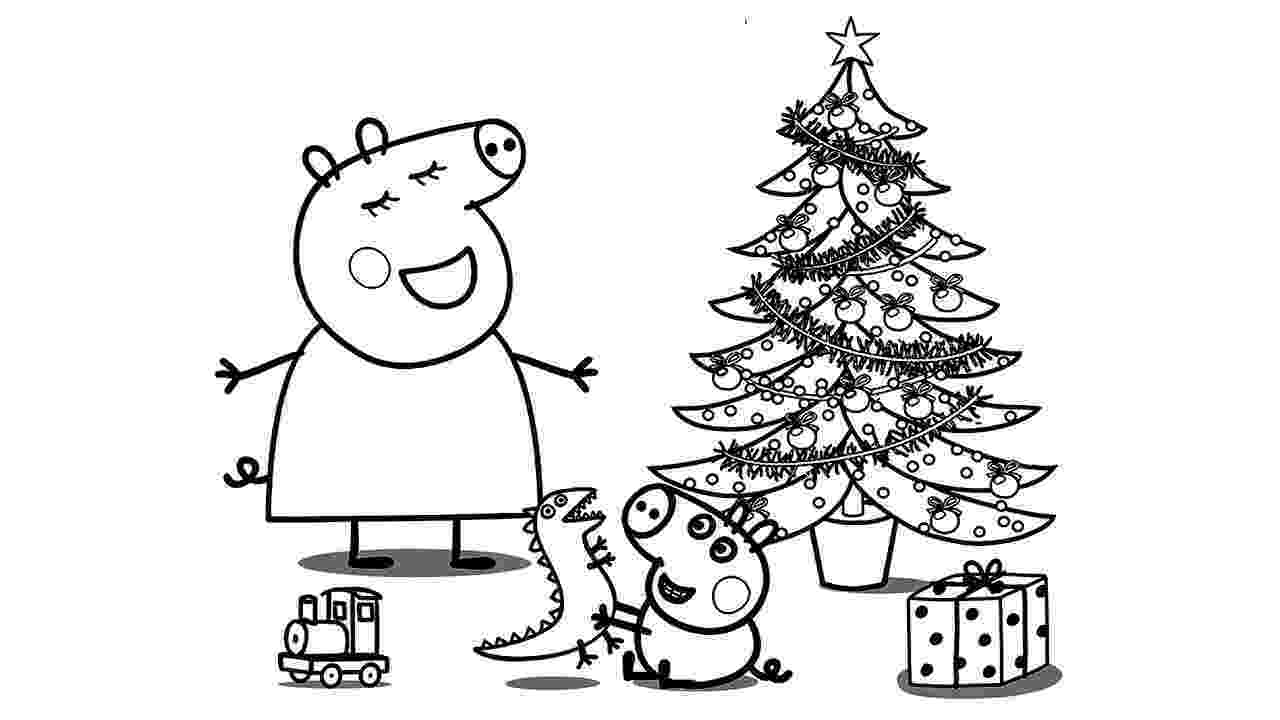 free peppa pig christmas colouring pages peppa pig christmas coloring pages at getdrawings free free peppa colouring pages pig christmas