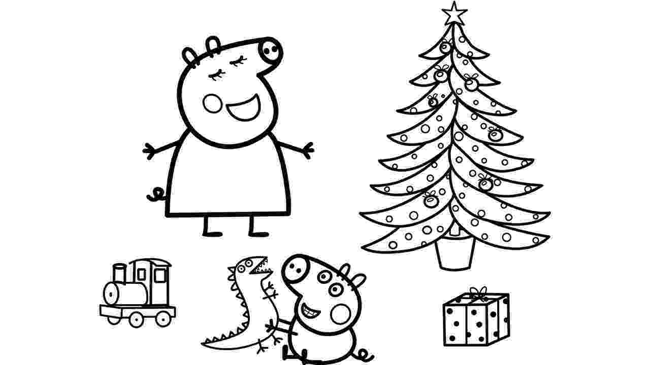 free peppa pig christmas colouring pages peppa pig christmas coloring pages peppa pig and george christmas free pig colouring peppa pages