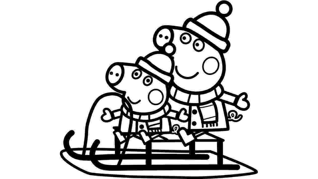 free peppa pig christmas colouring pages peppa pig christmas sleigh colouring peppa pig coloring pages pig free colouring christmas peppa