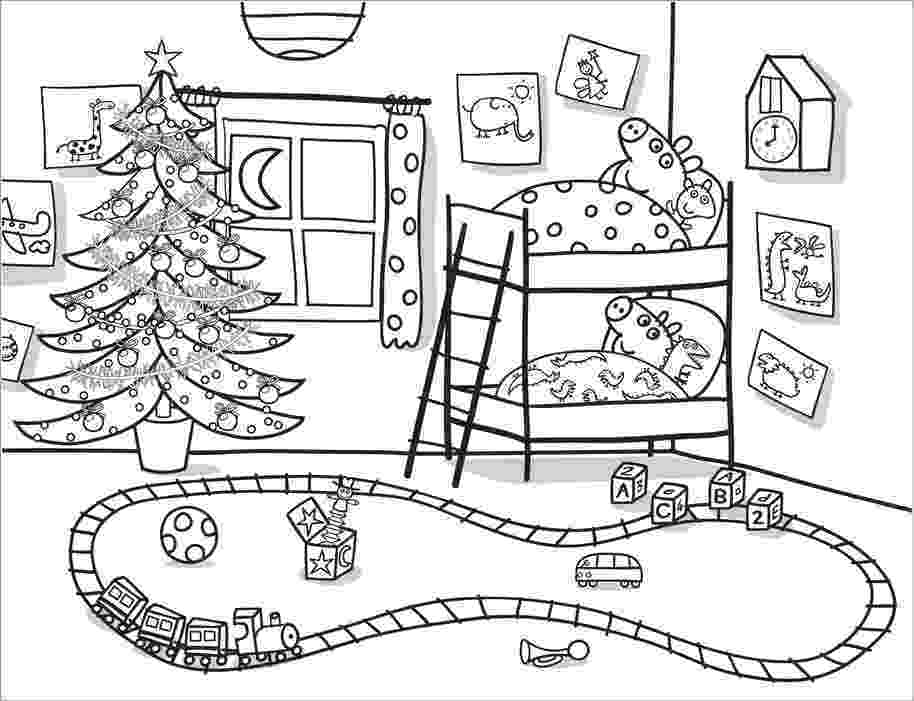 free peppa pig christmas colouring pages peppa pig coloring pages getcoloringpagescom peppa christmas free pig pages colouring