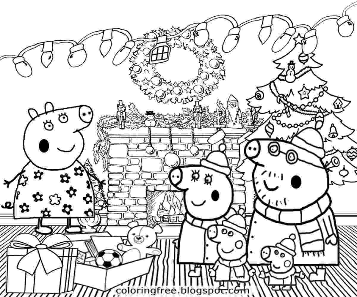 free peppa pig christmas colouring pages peppa pig coloring pages getcoloringpagescom peppa christmas pig free colouring pages