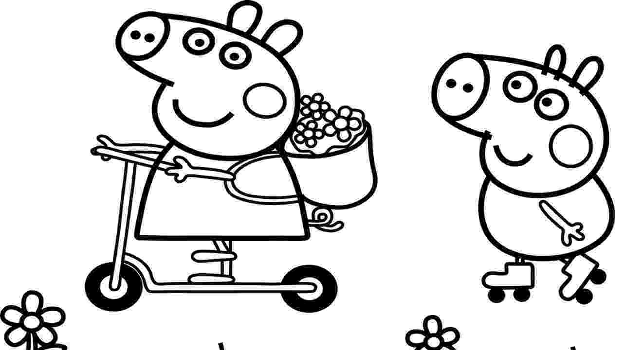 free peppa pig christmas colouring pages peppa pig coloring pages getcoloringpagescom pig christmas peppa colouring free pages