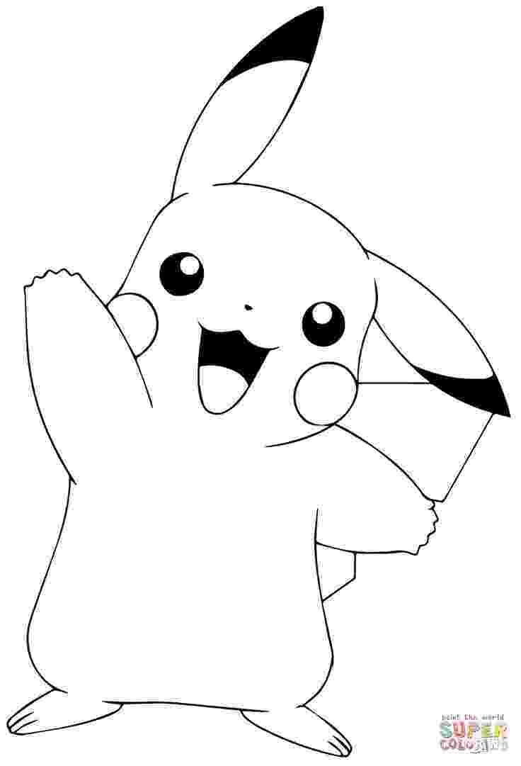 free pikachu printables pikachu pokemon coloring pages getcoloringpagescom pikachu printables free